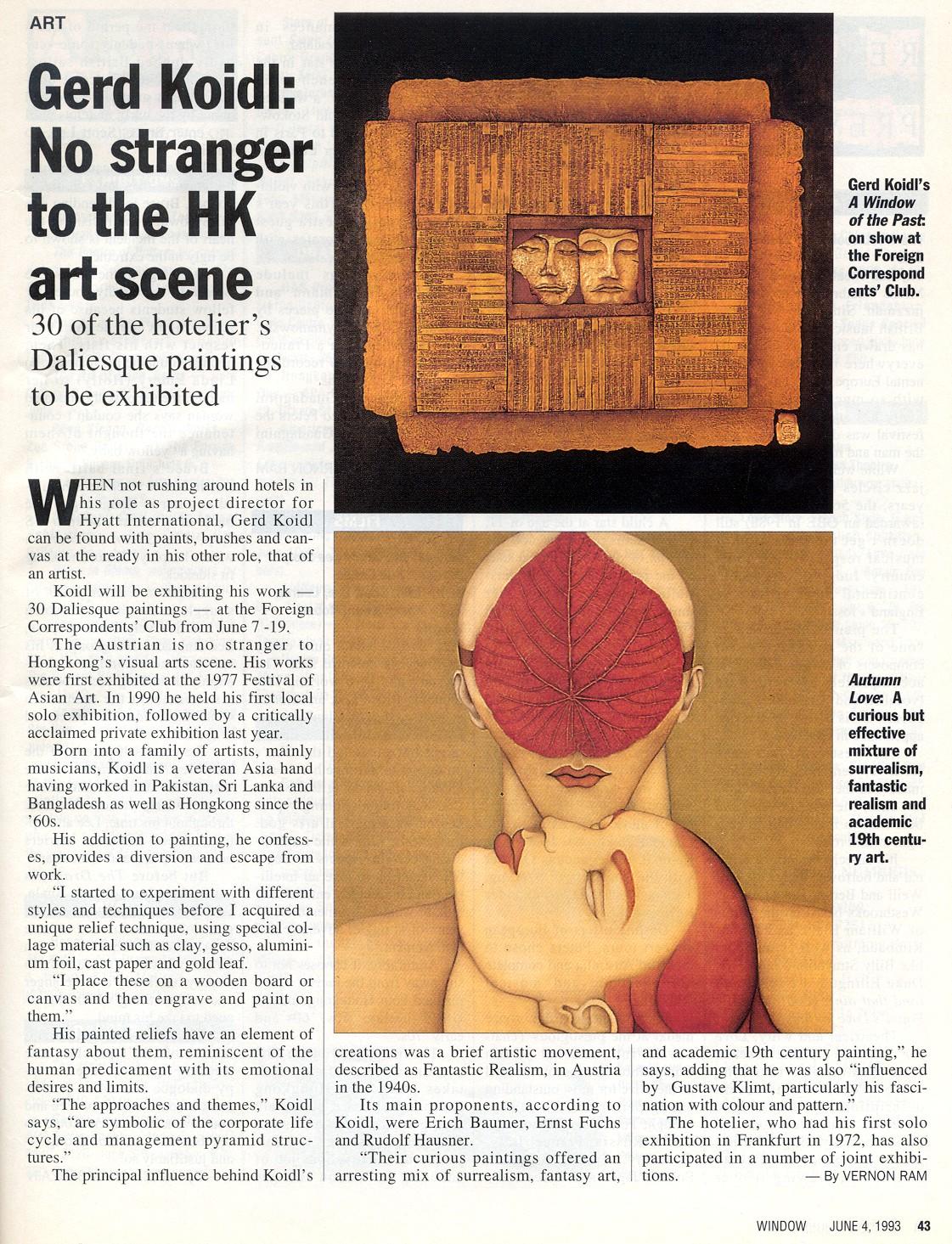 1993 June Hong Kong Window News magazine
