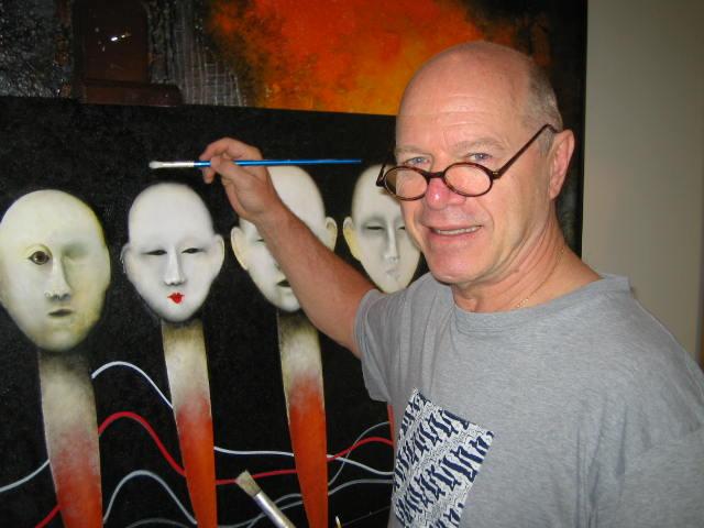 Gerd Koidl artist in action