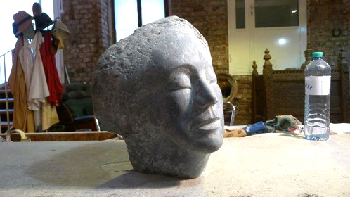 Sculpture during polishing stage