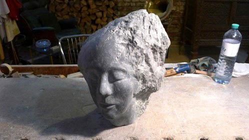 Stone during polishing stage 2